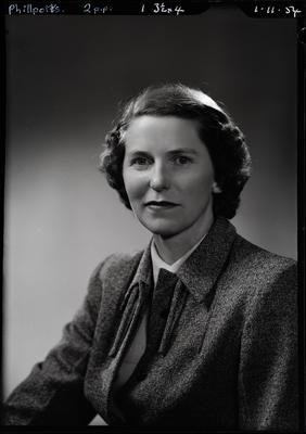 Film negative: Mrs Phillpotts
