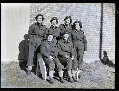 Film negative: Six female soldiers; 1992.96.2359