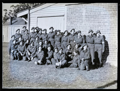 Film negative: Company of female soldiers