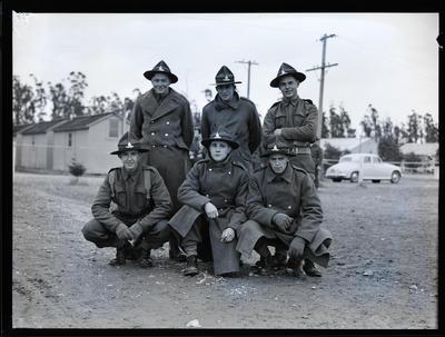 Film negative: Six soldiers