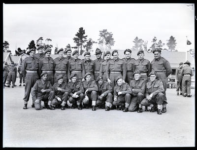 Film negative: Burnham, group of soldiers