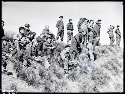 Film negative: Burnham, soldiers