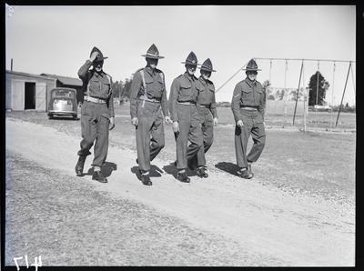 Film negative: Burnham, five soldiers