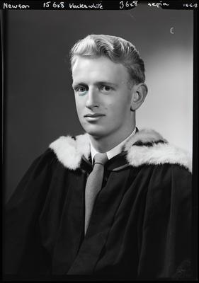 Film negative: Mr Newson, graduate