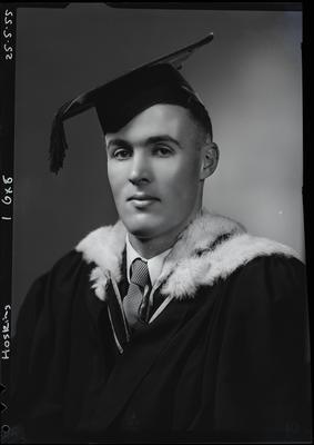 Film negative: Mr Hosking, graduate; 25 May 1955; 1992.96.2848