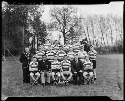 Film negative: Papanui Under XV Rugby team