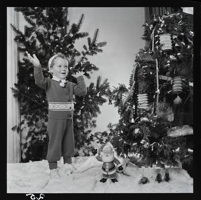 Film negative: Mr Antliff, Christmas scene with a small boy