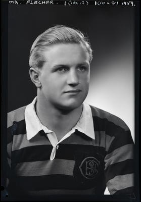 Film negative: Mr Fletcher, Boy's High School rugby jersey
