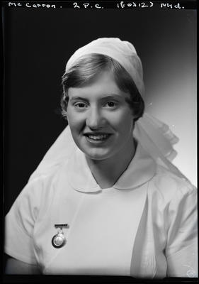 Film negative: Miss McCarron, Dental Nurse