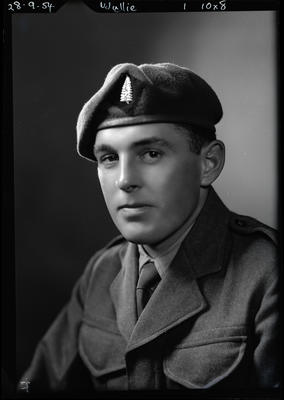 Film negative: Mr Wyllie, in army uniform