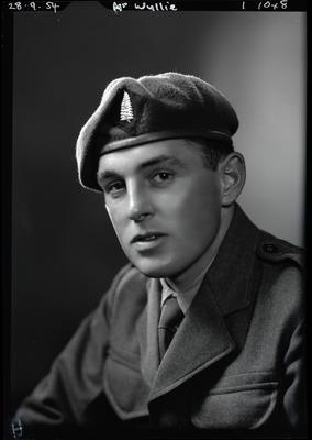 Film negative: Mr Wyllie, in army uniform