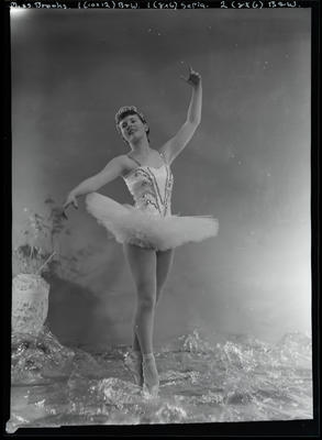 Film negative: Miss Brooks, girl in ballet outfit