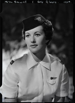 Film negative: Miss Boswell, air hostess