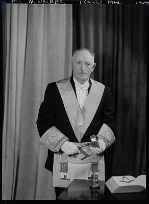 Film negative: Mr Walker, in lodge regalia