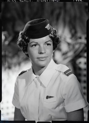Film negative: Miss Roach, air hostess