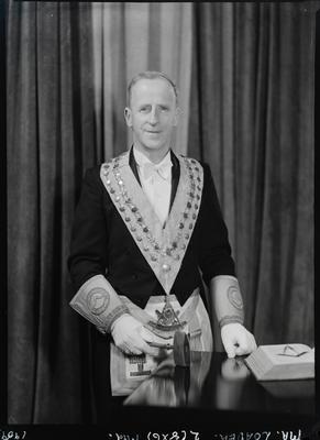 Film negative: Mr Lester, in lodge regalia