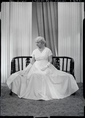 Film negative: Mrs Lewis; 1960; 1992.96.3650