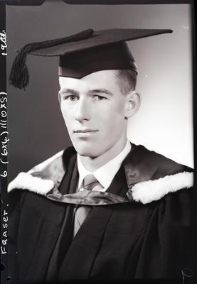 Film negative: Mr Fraser, graduate