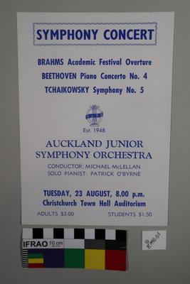 handbill, concert