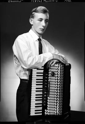 Film negative: Mr Danholt, with piano accordion