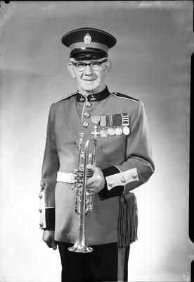 Film negative: Mr Fowler, military bandsman