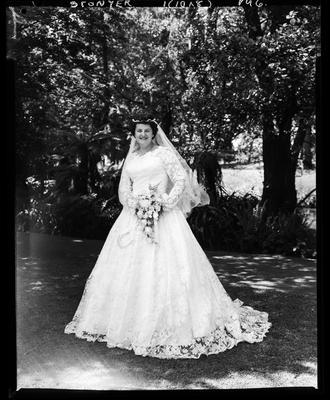 Film negative: Stonyer wedding, bride