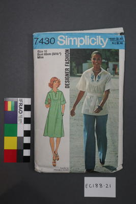 pattern, dressmaking; 1976; ;