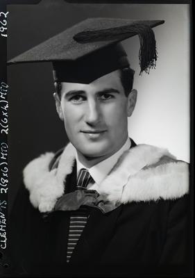Film negative: Mr Clements, graduate