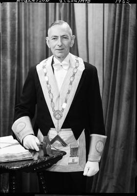 Film negative: Mr Robertson, lodge man