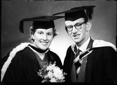 Film negative: Mr Scott and Miss Moore, graduates