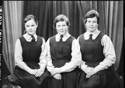 Film negative: Mrs Wiley, three girls