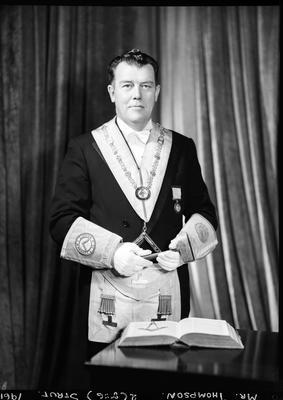 Film negative: Mr Thompson, lodge man