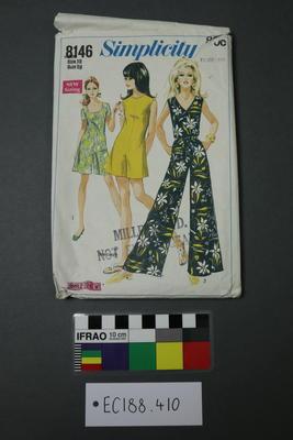 pattern, dressmaking; 1969; ;