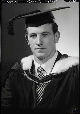 Film negative: Mr Dunn, graduate