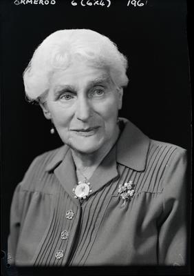 Film negative: Mrs Ormerod