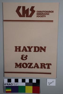 programme, concert; 1982; ;