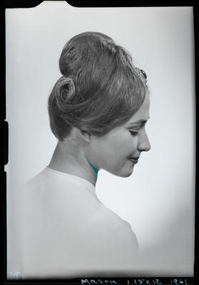 Film negative: Mrs Mason, Christchurch Beauty Centre - wigs