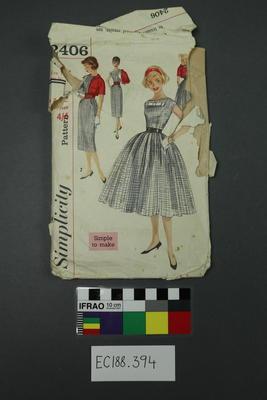 pattern, dressmaking; 1960s; ;