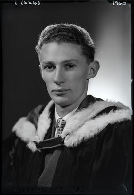 Film negative: Mr Galloway, graduate