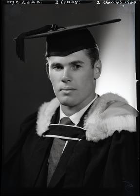 Film negative: Mr McLean, graduate