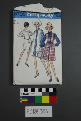 pattern, dressmaking; 1970; ;