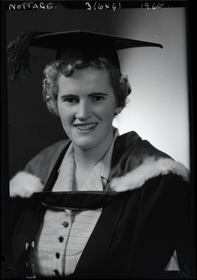 Film negative: Miss Nottage, graduate