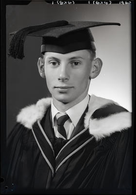 Film negative: Mr Strachan, graduate