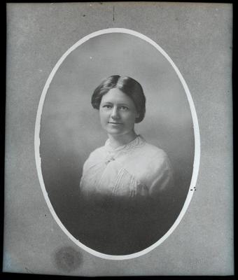 Film negative: Mrs Doak, woman