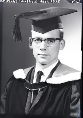 Film negative: Mr Spinley, graduate