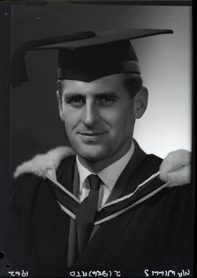 Film negative: Mr Willis, graduate