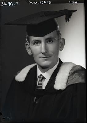 Film negative: Mr Wyatt, graduate