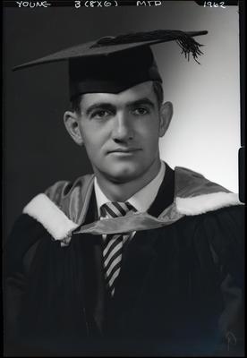 Film negative: Mr Young, graduate