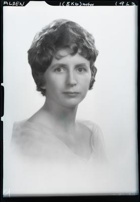 Film negative: Miss Alden