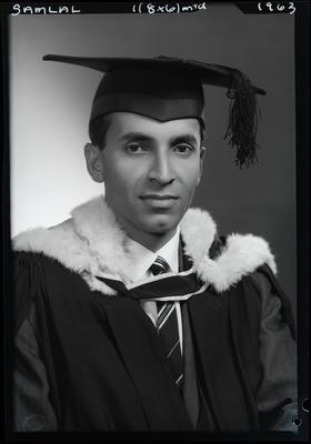 Film negative: Mr Samlal, graduate